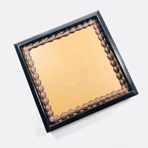 Tablet Melk 400 gram met uw eigen tekst op chocolade! Maximaal 40 karakters.