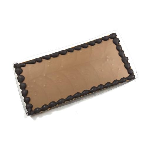 Tablet Melk 225 gram met uw eigen tekst op chocolade! Maximaal 25 karakters.