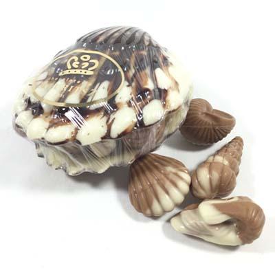 Zeebanket in schelp van chocolade (250 gram)