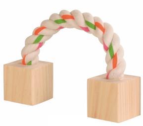 Speelrol blokken met touw.