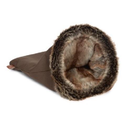 konijnen slaapzak tunnel bond rand bruin