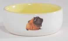 cavia voerbak geel