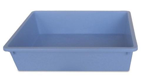 plasbak lichtblauw groot 50 x 35 x 12.
