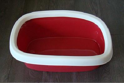 Plasbak rood met rand  39 x 58 x 17.