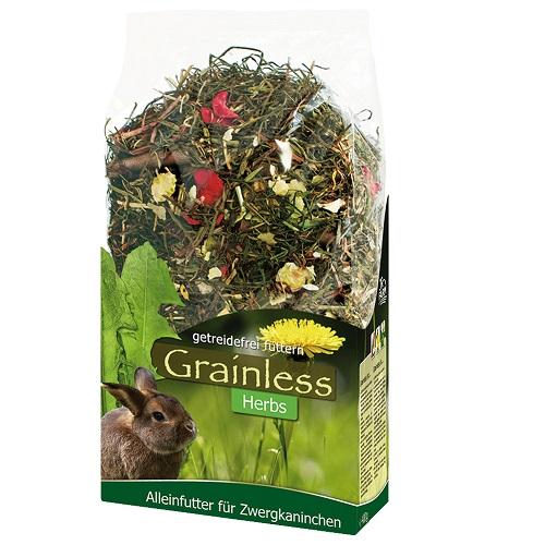JR Grainless herbs voor dwergkonijnen 400 gram.