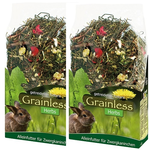 JR Grainless herbs voor dwergkonijnen 950 gram