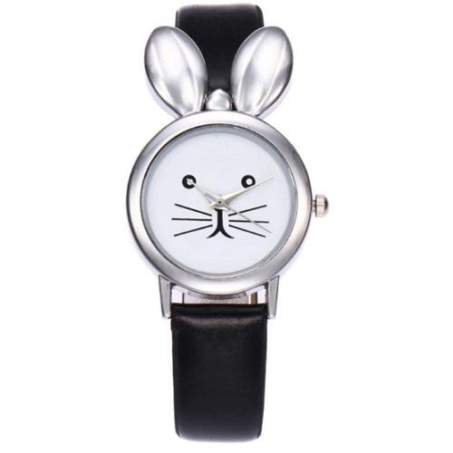 konijnen horloge zwart