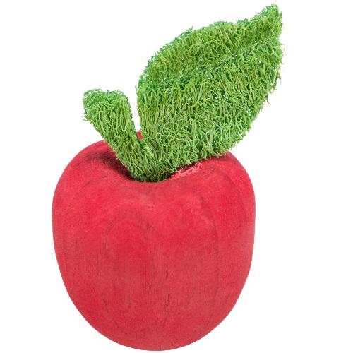 Houten appel met luffa