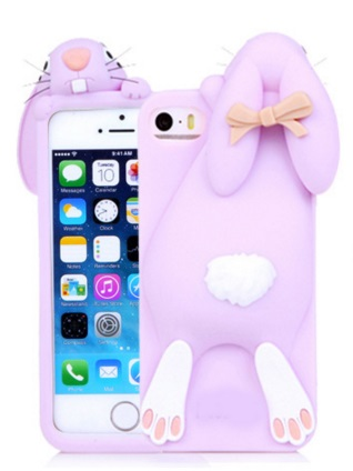 i phone 5 / 5s hoesje konijn lila