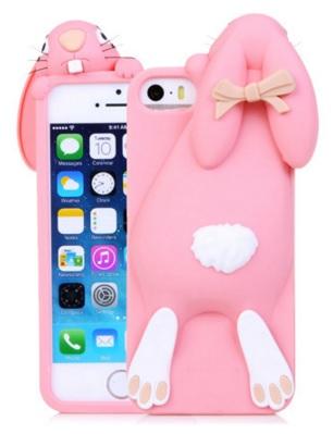 i phone5 / 5s hoesje konijn lichtroze