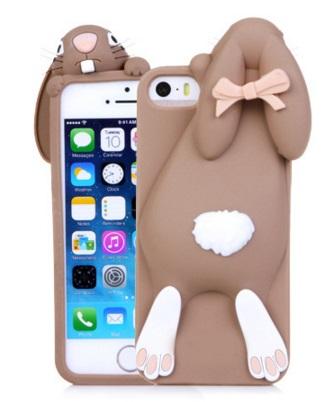 i phone 4 /4s hoesje konijn bruin