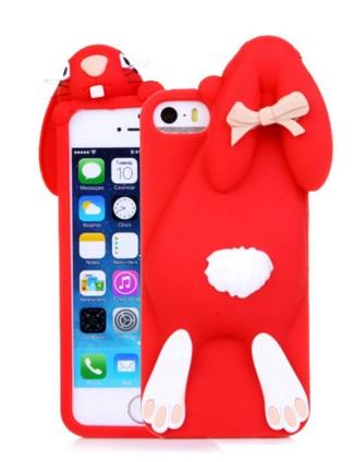 i phone 5 / 5s hoesje konijn rood