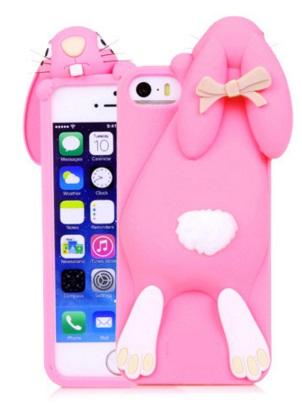 i phone 5 / 5s hoesje konijn donker roze