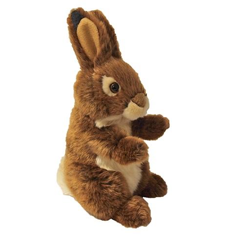 speelgoed konijn bruin zittend