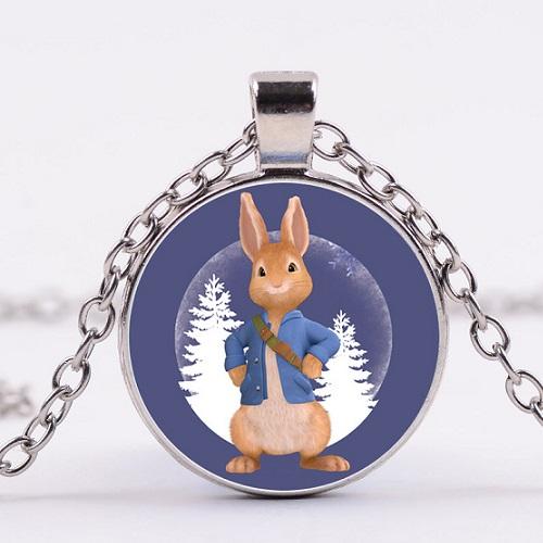 ketting pieter konijn donker blauw