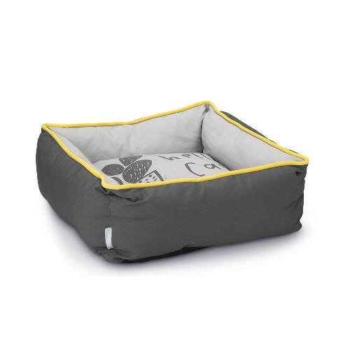 konijnen slaap mand geel grijs
