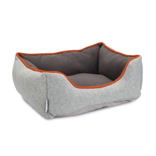 konijnen slaap mand donker grijs oranje