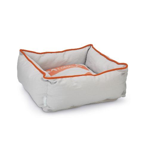 konijnen slaap mand oranje grijs