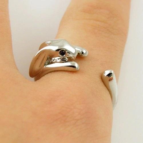 zilveren ring konijn