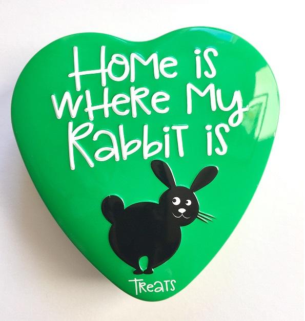 konijnensnoep in groen blikje