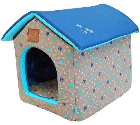 Konijnen huis lief blauw