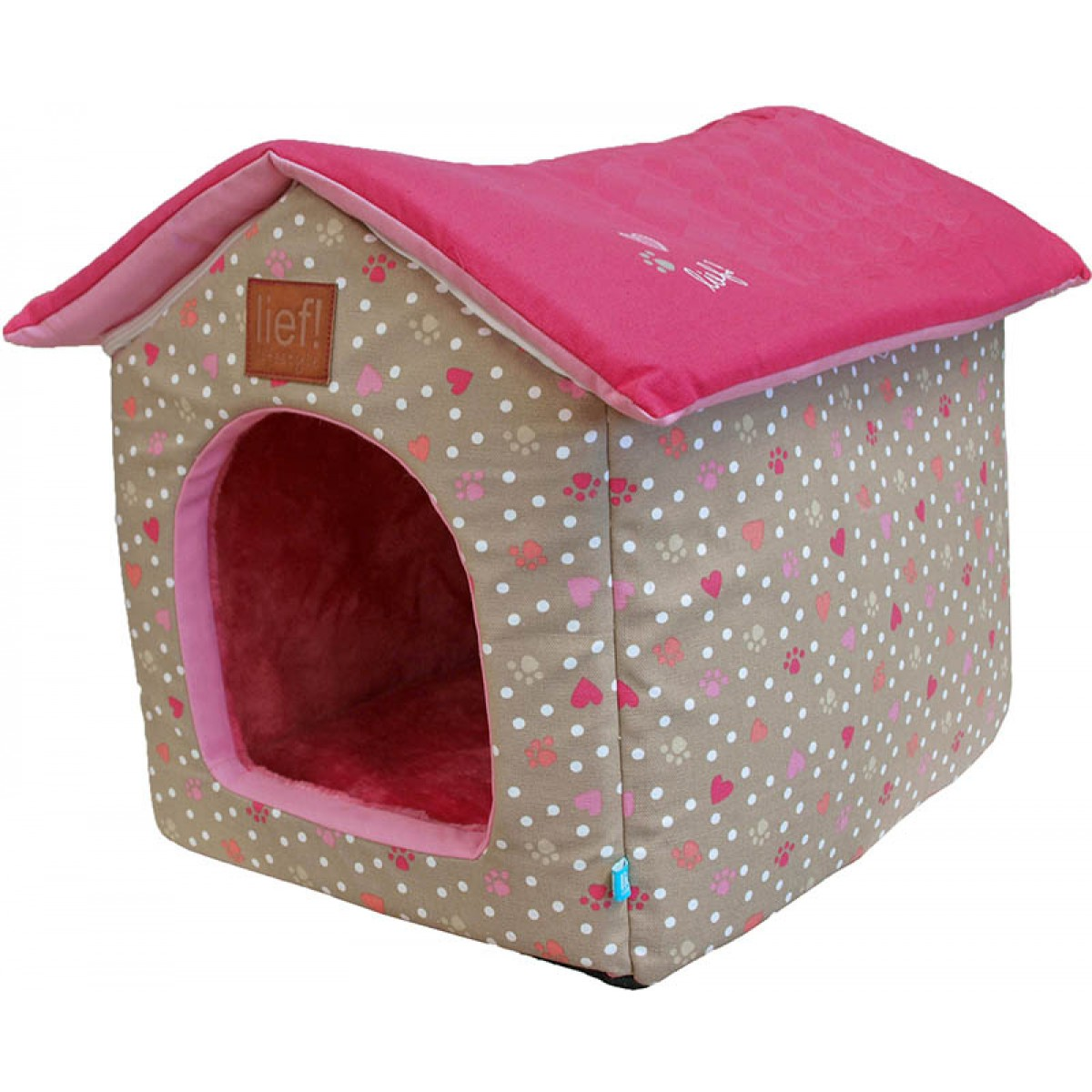 Konijnen huis lief roze