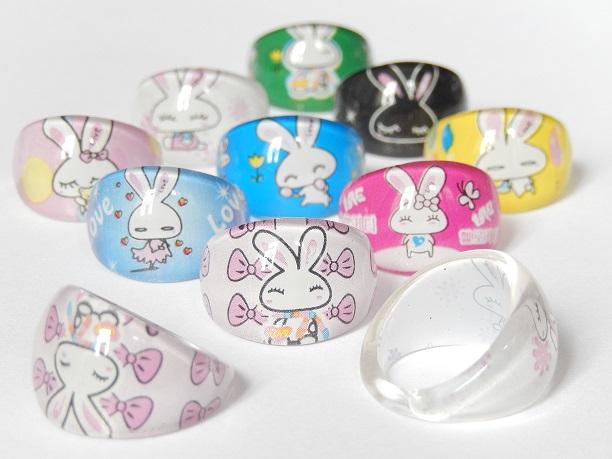 konijnen ringetjes plastic