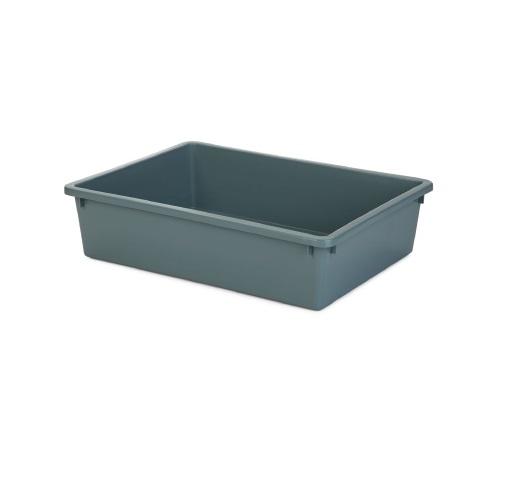 plasbak grauw blauw klein 40 x 30 x 10.