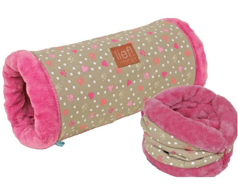 lief roze speeltunnel