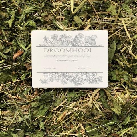 Paardenbloemblad hooi
