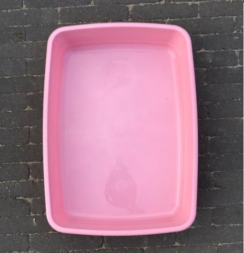 Plasbak roze groot