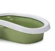Plasbak leger groen met rand.