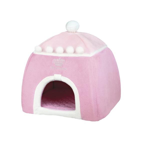 konijnen prinsessen huis roze 30x32x30.
