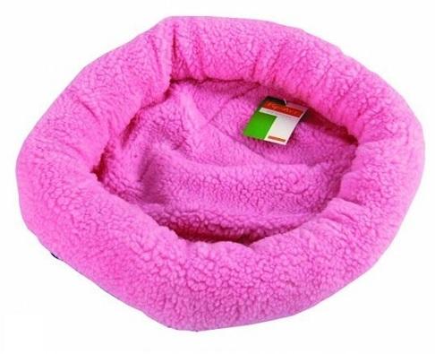 ronde roze konijnen mand