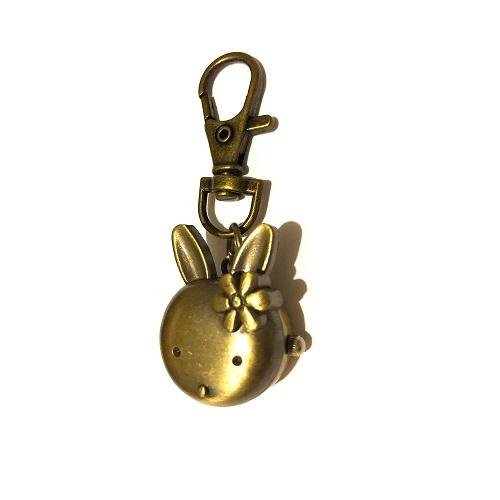 konijnen horloge brons