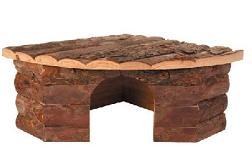 Konijnen houten hoek hok 16 x 28 x 28