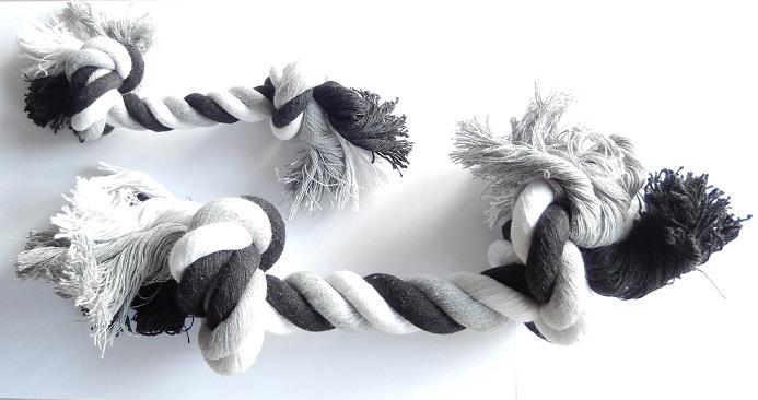 speeltouw zwart wit mini