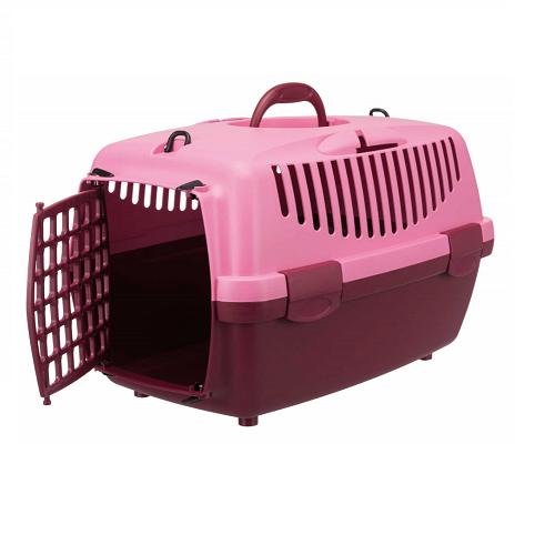 1 grote konijnen  vervoermand roze rood