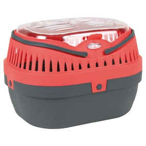 Vervoermand pico 30x23 x21 grijs/rood