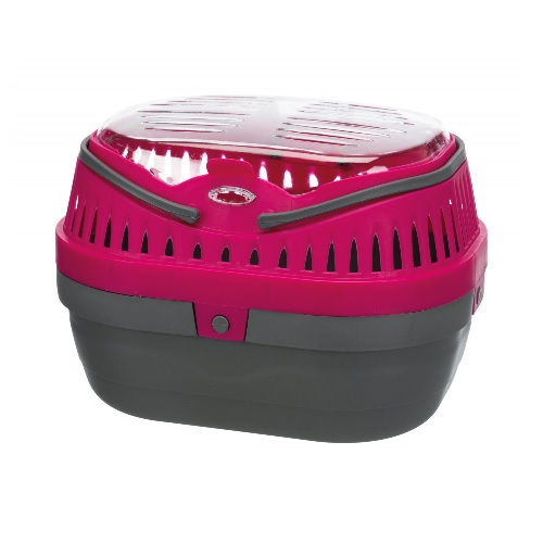 Vervoermand pico 30x23 x21 grijs/roze
