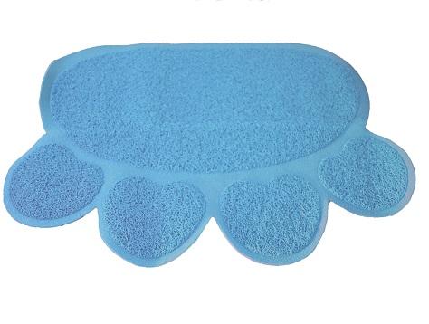 uit de kooispring mat licht blauw