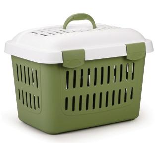 Trasport  koffer met deksel groen