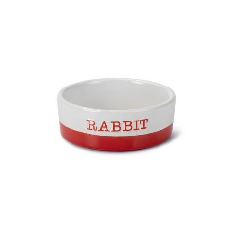 voerbak rabbit rood wit