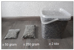 zonnebloempitten per 1 kilo.