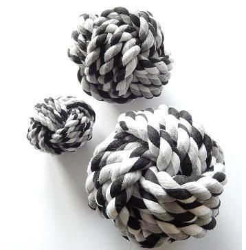 touwbal zwart wit L