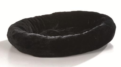 ronde zwarte konijnen bed
