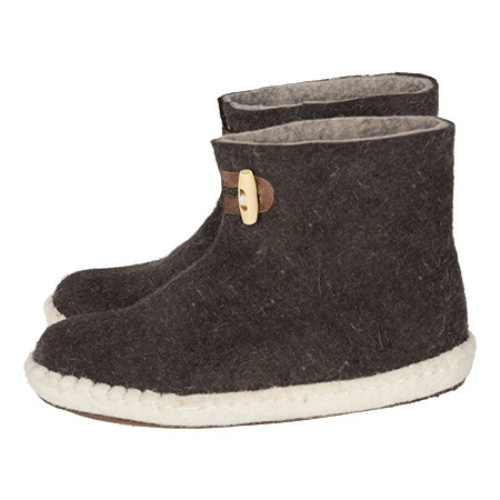 Vilten damesslof High Boots brown