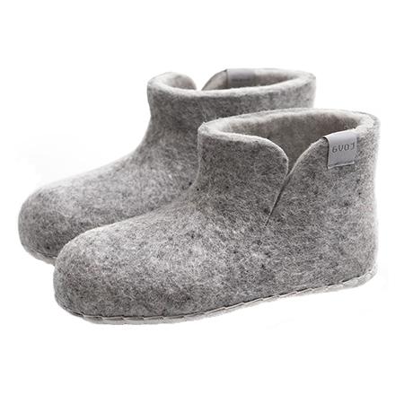 Vilten kinderslof Boots Grey