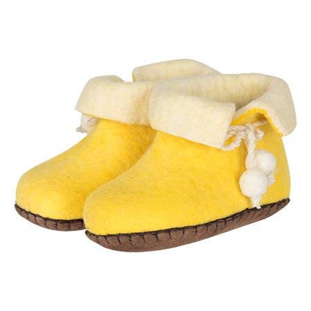 Kinder-filzschuhe Boots Gelb