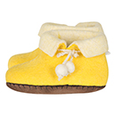 Vilten kinderslof Boots Yellow